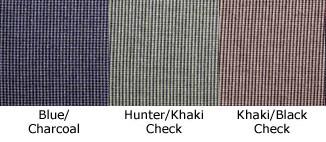Men\'s Micro-Check Long Sleeve Work Shirt