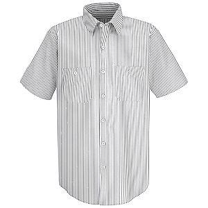 White/Charcoal Stripe