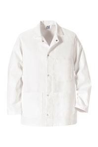 Gripper Front Short Butcher Coat with Pockets