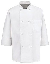 Eight Knot-Button Chef Coat