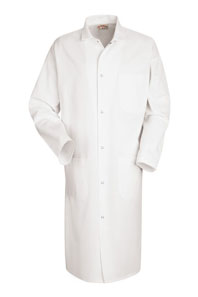Gripper Front Butcher Frock with Pockets