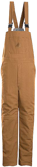 "Bulwark Excel-FRâ""¢Flame Resistant ComforTouchâ""¢Brown Duck Deluxe Insulated Bib Overall"