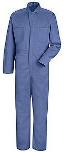 Button Front Action Back Cotton Coverall