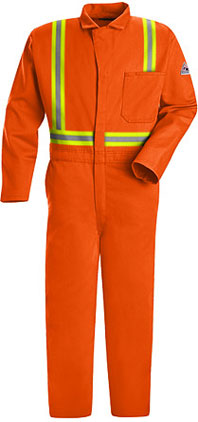 "Bulwark Excel-FRâ""¢ Flame Resistant Contractor Coverall with Reflective Trim"