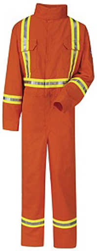 Bulwark EXCEL FR® ComforTouch® Flame Resistant Premium Coverall W/ Reflective Trim