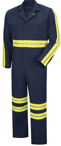 Enhanced Visibility Action Back Twill Coverall