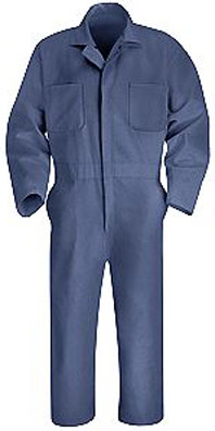 Action Back Long Sleeve Twill Coverall