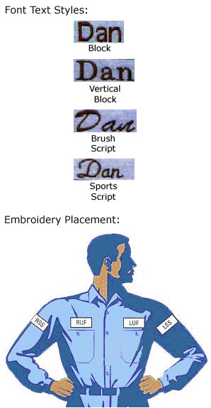Direct Text Embroidery