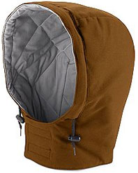 "Bulwark Excel-FRâ""¢ Flame Resistant Universal Fit Snap-on Insulated Brown Duck Hood"