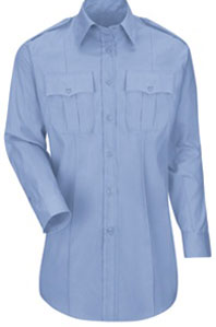 Womens New Dimension® Plus Poplin Long Sleeve Shirt