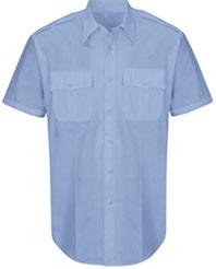 Men's New Dimension® Plus Poplin Short Sleeve Shirt