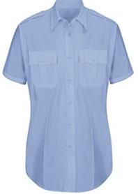 Womens New Dimension® Plus Poplin Short Sleeve Shirt