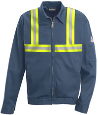 "Bulwark EXCEL-FRâ""¢ Flame Resistant Zip-in / Zip Out Jacket w/ Reflective Trim"
