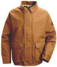 "Bulwark EXCEL-FRâ""¢ ComforTouchâ""¢Flame Resistant Brown Duck Lined Bomber Jacket"
