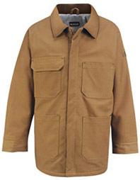"""Bulwark Excel-FRâ""""¢ Flame Resistant ComforTouchâ""""¢ Brown Duck Lineman's Coat"""