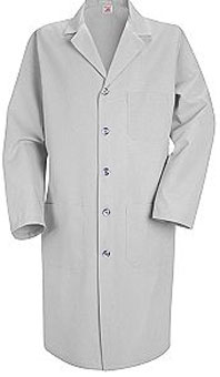 Men's Button Front Lab Coat