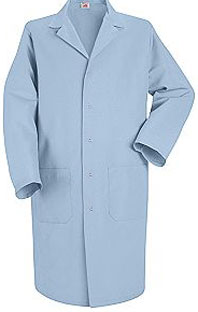 Men's Gripper Front Lab Coat