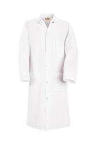 Gripper Front Polyester Butcher Coat