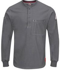 Bulwark FR iQ Series Plus Long Sleeve Henley