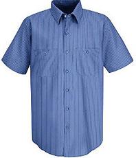 Men's Industrial Stripe Broadcloth Work Shirt