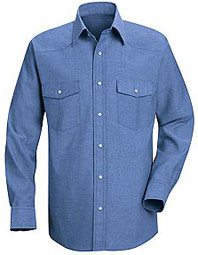 Western Style Long Sleeve Uniform Shirt