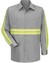Enhanced Visibility Cotton Work Shirt