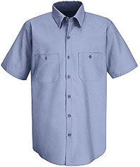 Men's Wrinkle Resistant Short Sleeve Work Shirt