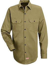 Men's Heavyweight Cotton Twill Long Sleeve Workshirt