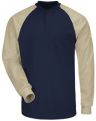 "Bulwark Excel-FRâ""¢ Flame Resistant Color Blocked Henley Shirt"