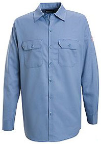 """Bulwark EXCEL-FRâ""""¢ Flame Resistant Button Front Work Shirt"""
