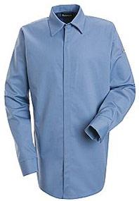 """Bulwark EXCEL-FRâ""""¢ ComforTouchâ""""¢ Flame Resistant Concealed Gripper Pocketless Shirt"""