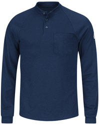 Bulwark Cool Touch®2 Flame Resistant Long Sleeve Henley Shirt