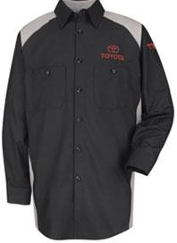Toyota Long Sleeve Unisex Industrial Work Shirt
