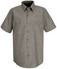 Men's Industrial Short Sleeve Work Shirt