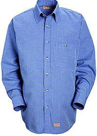 Men's Mini-Plaid Uniform Shirt