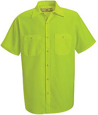 Enhanced Visibility Short Sleeve Work Shirt