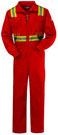"Bulwark Excel-FRâ""¢Flame Resistant Deluxe Coverall w/ Reflective Trim"