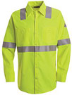 Bulwark Hi-Visibility Flame Resistant Long Sleeve Work Shirt