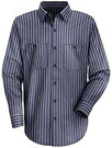 Men's Industrial Stripe Poplin Work Shirt